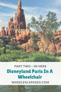 Mountain scenery at Disneyland with title text over. Click to read part 2 of the series