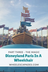 It's a small world ride with title text over. Click to read part 3 of Disneyland series