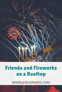 An images with a link to pin. Fireworks in the background with the post title overtop.