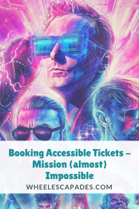 An image to pin. The cover of Muse Simulation Theory album with the three band members drawn in vibrant colours. Blog post title placed over image.