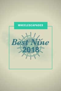 An image to pin. Title text laid over wheelescapades wheel logo
