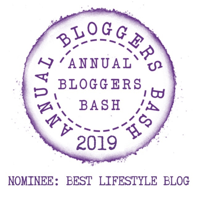 An image of the Bloggers Bash logo. A purple circle with Bloggers Bash text and Best Lifestyle Blog written below.