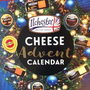 The front of my advent calendar has a wreath on made with images of the various cheeses.